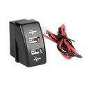 USB doble empotrado