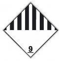 Placa de señalización ADR peligro en general