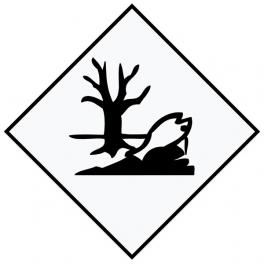 Placa de señalización ADR peligro medioambiental