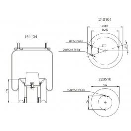 Bombona suspensión neumática 1201B1157