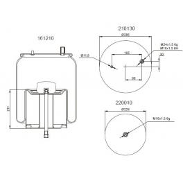 Bombona suspensión neumática 1201B1190