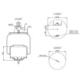 Bombona suspensión neumática 1201B1141