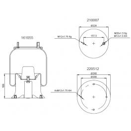 Bombona suspensión neumática 1201B1103