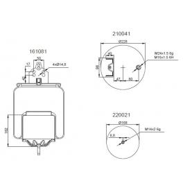 Bombona suspensión neumática 1201B1140