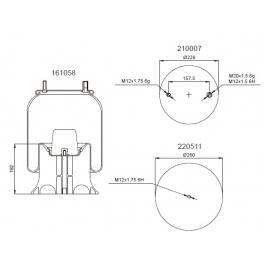 Bombona suspensión neumática 1201B1106