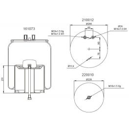 Bombona suspensión neumática 1201B1129