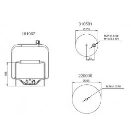 Bombona suspensión neumática 1201B1113
