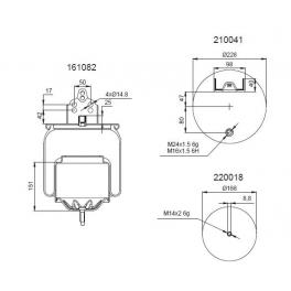 Bombona suspensión neumática 1201B1143