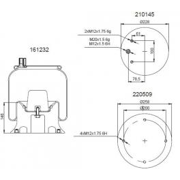 Bombona suspensión neumática 1201B2585
