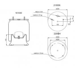 Bombona suspensión neumática 1201B1071