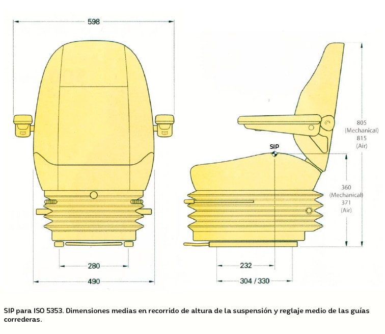 Asiento KAB 515/525/AIR 555