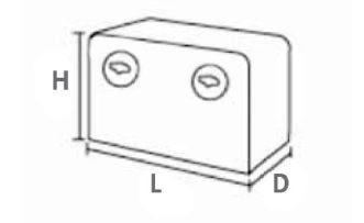 Medidas cajón herramientas 14010110